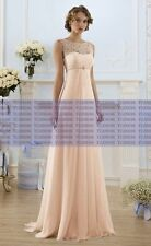 Long Chiffon Evening Formal Lace Party Ball Gown Cocktail Prom Bridesmaid Dress