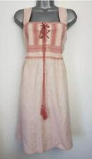 Neues AngebotPink Linen Blend Dress Sommer NEU 18