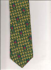 Tie, 1996 Atlanta Olympic Games 100 YEARS Green Gold Fleur De Lis SILK RM Sport
