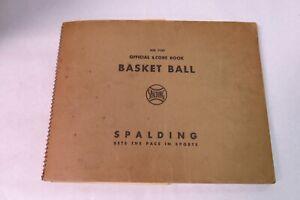 Spalding Official Basketball Score Book NBA NCAA 1960 - 1968 Knicks Celtics