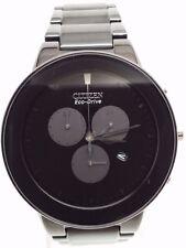 Citizen Eco-Drive Axiom Chronograph Black IP Men's Watch AT2245-57E SD