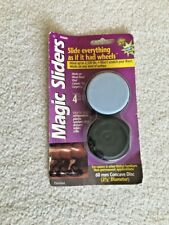 """MAGIC SLIDERS 60 MM (2 3/8"""") CONCAVE, REUSEABLE, 4-PACK • NEW"""