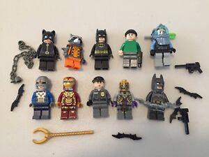 LEGO Super Heroes DC MINIFIG LOT - 10 MINIFIGS Batman Iron Man E494B
