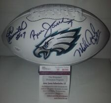 Harold Carmichael Ron Jaworski Mike Quick Signed Eagles Football JSA W98355