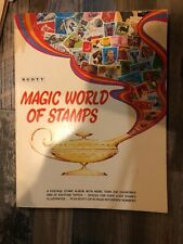 SCOTT Magic World of Stamps Postage Stamp Album (includes few stamps)