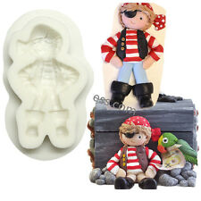 Pirate Doll Fondant Cupcake Silicone Cake Mold Stencil Candy Pastry Cooking Tool