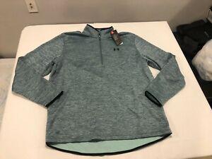 NWT $55.00 Under Armour Mens CG Armour Fleece 1/2 Zip Shirt Concrete Blue Sz XXL