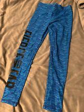 Justice Leggings sz 14 Full Length Blue Gold Arrow Patterned