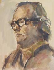 European impressionist watercolor painting portrait