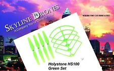 Holy Stone HS100 Propellers & Bumper Guards Set GREEN