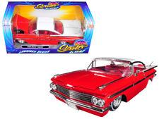 1/24 Jada 1959 Chevrolet Impala Lowrider Series Street Low White Top RED 98922