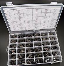 36value Electrolytic Capacitor Assortment Box Kit 1000pcs new Radial