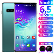 """S10+ 6.5"""" 1GB+16GB Smartphone 8.0MP Face Recognition 2 SIM Unlocked Mobile Phone"""
