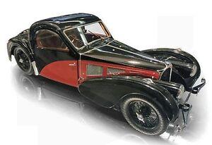 BAUER 1937 Bugatti 57SC Atalante Black/Red Extra Large 1:12 Scale LE 1500pc New!