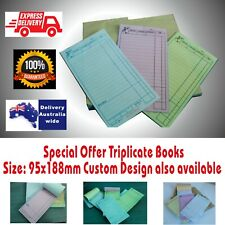 100  TRIPLICATE Large Restaurant Docket Books Carbonless Fast Delivery ALL AREAS