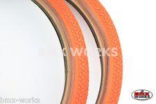 "Kenda K55 Freestyle 20"" x 1.75"" Skinwall Tyres Orange - Sold In Pairs"