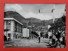 CASSINO Albergo Caffè Oliva Via Napoli e Abbazia Frosinone vecchia cartolina