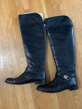 9b8b172757e COACH Madeleine 9 over the knee leather boots  498 black back zipper silver  tall