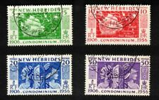 Lot of 4 British New Hebrides 1956 Stamps Scott # 78-81; Used