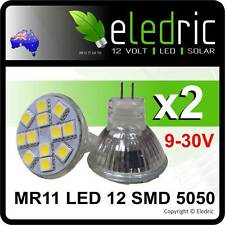 LED MR11 12 SMD 5050 Light Replacement Boat Yacht Caravan Coromal Camper RV 4x4