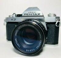 【Exc+++++】Pentax K2 SLR Film Camera w/ SMC 55mm F/1.8 Lens from Japan