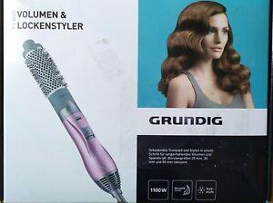 """Grundig Hair Styler HS 5620 """"Keramic"""" Warmluft Lockenstab mit 3 Büsten OVP"""