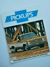 Brochure Chevrolet Pickups  1976 (USA) !