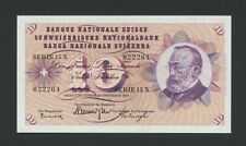 More details for switzerland 10 francs 1959 p47e uncirculated  banknotes