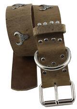 WESTERN SPEICHER Hundehalsband Leder Indi03 Braun Größe 47cm - 53cm