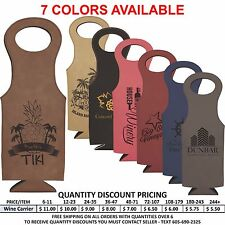 Personalized Leather Wine Bottle Carrier Wedding Party Groomsmen Bridemaids Gift