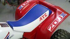 HONDA ATC 250R seat cover RED ATC LOGO BLUE /WHITE 1983 1984  83 84