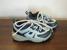 Kid Smart Toddler Shoes Sneakers Tan Navy Blue Outdoor Lace Up Size 6 Casual