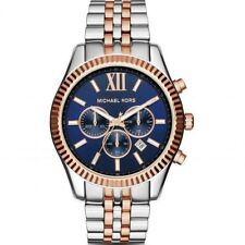 8cfee54fa3ba Michael Kors MK8412 Lexington Chronograph Navy Dial Two tone Unisex Wrist  Watch