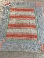 "VINTAGE Handmade Patchwork QUILT 36"" x 42"" lap wall crib #781"