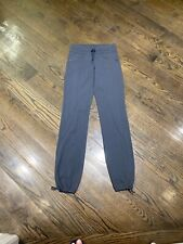 Athleta Gray Draw String Leg Fitness Hiking Sports Yoga Pants XS XST
