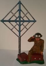 Barclay #951 Wireless Operator w/ Antenna Soldier Metal Toy Figure Vintage 1930s