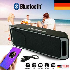 USB Wireless Bluetooth Lautsprecher Stereo Musikbox AUX FM SD MP3 Für PC Handy