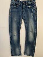 Black Premium Low Rise Slim Straight Mens Jeans Sz 34/34