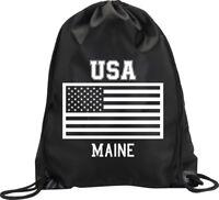 BACKPACK BAG MAINE USA UNITED STATES GYM HANDBAG FLAG SPORT M1