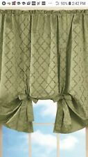 """Sage Green  49"""" W x63""""L Rod  Pocket Tie Up Shade Window Curtains Collections Etc"""