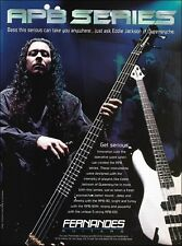 Queensryche Eddie Jackson Fernandes APB bass guitar ad 8 x 11 advertisement