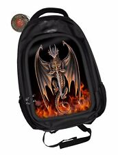 Anne Stokes Official 3D Unisex Backpack Dragon Warrior Goth School Padded Laptop