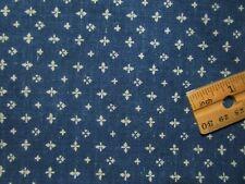 """Antique Fabric Indigo calico 33"""" x 23"""" Quilt Dolls Primitive"""