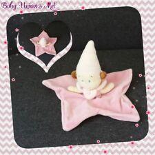 Peluche Doudou Nicotoy Lutin fée rose étoile TBE 27cm
