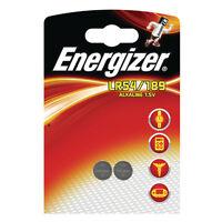 2 x ENERGIZER LR54 189 G10 BATTERY 1.5V ALKALINE BUTTON BATTERIES V10GA AG10