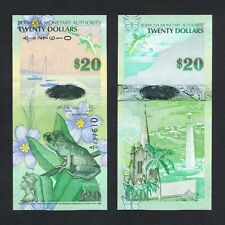 2009/2013 BERMUDA 20 DOLLARS HYBRID P-60b UNC> >WHISTLING FROG CHURCH A/1 PREFIX