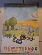 Janosch riesengroß Wandbild  Elefant und Ente Kalender 1988  7 Poster =3,28 m