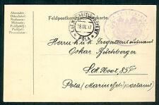 1917, Hungary Naval card, ship 'SATELLIT' purple cxl