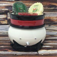 Yankee Candle Snowman Votive Candle Tart Melt Warmer + 3 Melts Christmas