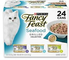 Purina Canned Wet Cat Food Seafood Variety Pack Flavor, (24) 3 oz. Cans